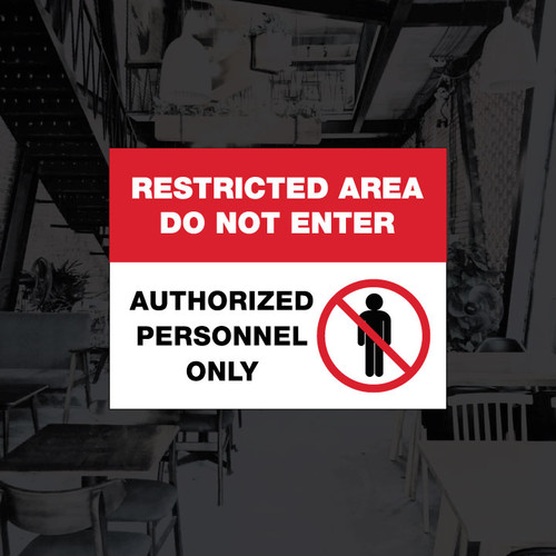 Restricted Area Vinyl Decal - 8.5 x 11