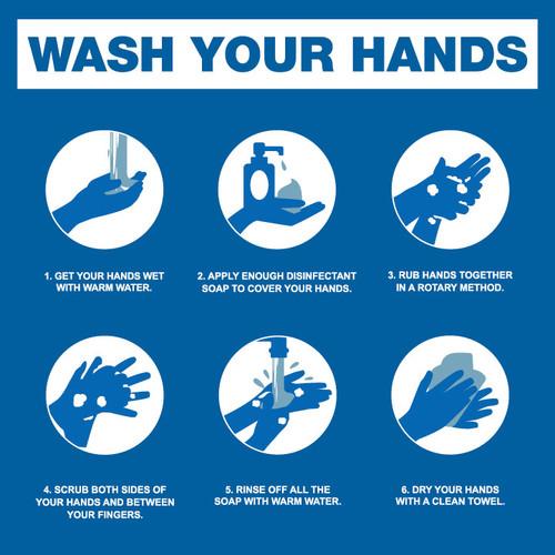Wash Hands Steps - FREE Printable Download
