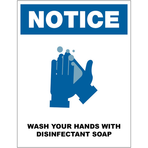Wash Hands w/ Disinfectant Soap - FREE Printable Download