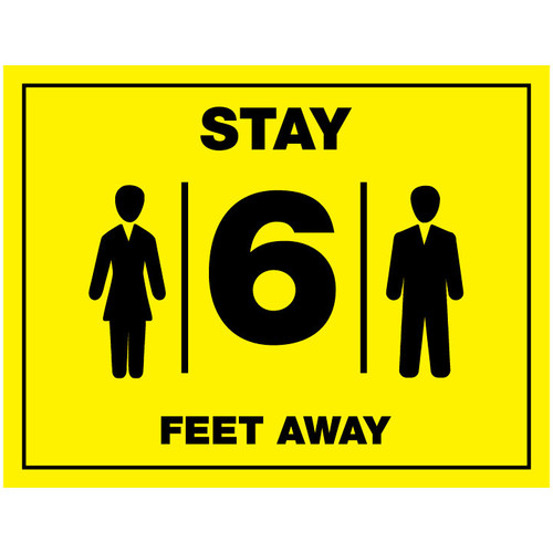 Stay 6 Feet Away - FREE Printable Download