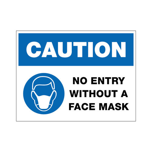 No Entry Without Face Mask - 12 x 9 Poster Sign