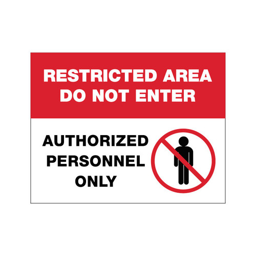 Restricted Area - 12 x 9 Poster Sign