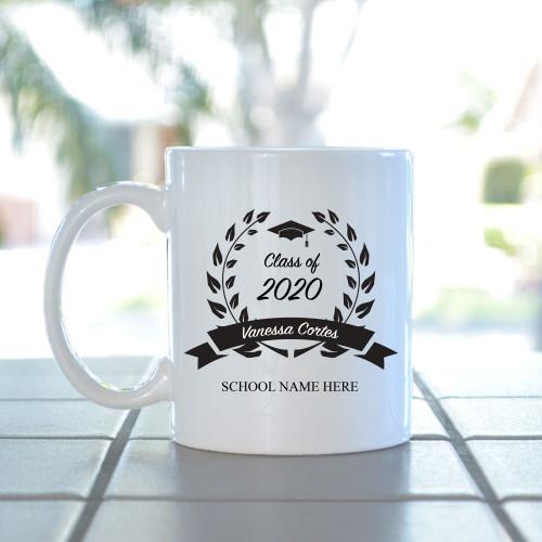 Grad Leaf Crest Mug