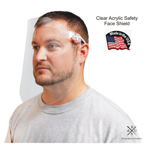 Clear Acrylic Safety Face Shield