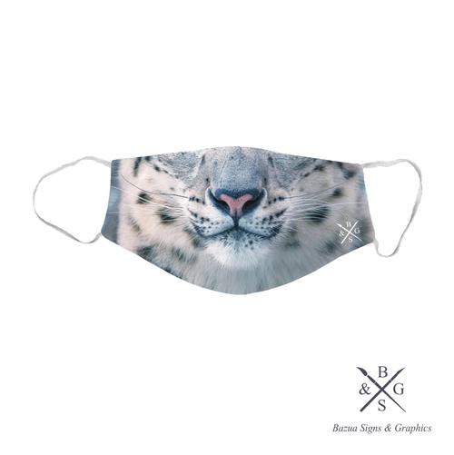 Face Mask - Snow Leopard
