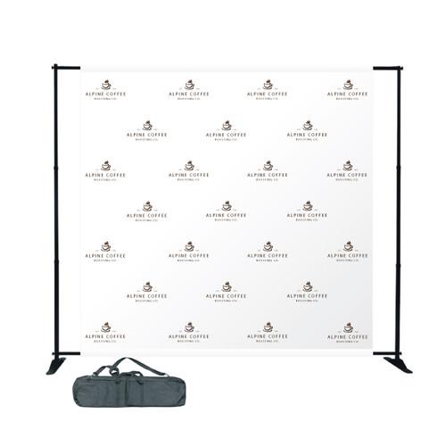 Step & Repeat Adjustable Backdrop - 8' x 8'