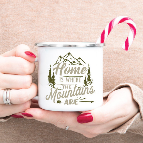 Home Is Where The Mountains Are Campfire Mug