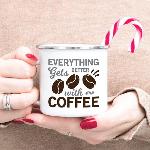 Everything Gets Better With Coffee Campfire Mug