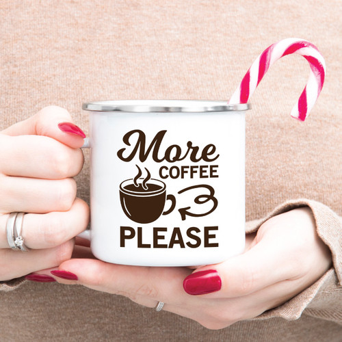 More Coffee Please Campfire Mug
