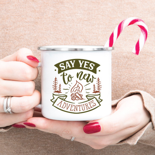 Say Yes To New Adventures Campfire Mug