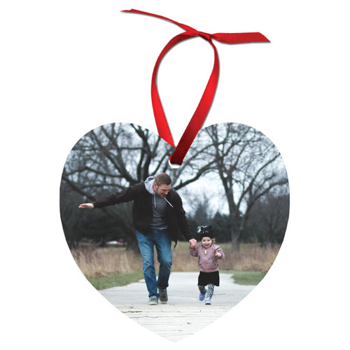 Aluminum Holiday Ornament - Heart