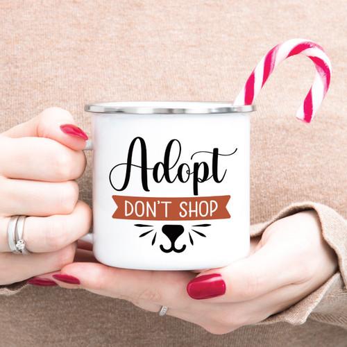 Adopt Don't Shop Campfire Mug