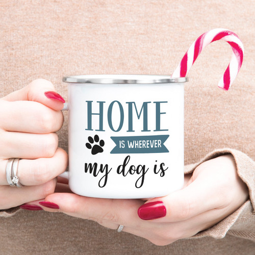 Home Is Wherever My Dog Is Campfire Mug