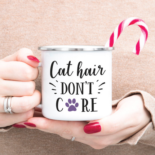Cat Hair Don't Care Campfire Mug