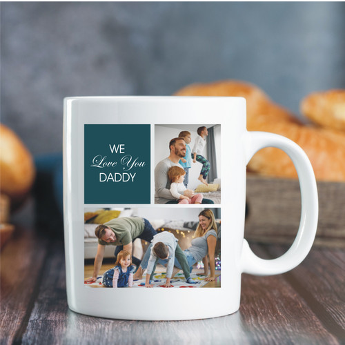 Custom Photo Mug - 2 Image / 1 Message