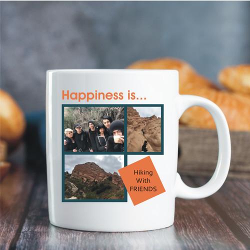 Custom Photo Mug - 3 Image / 1 Message
