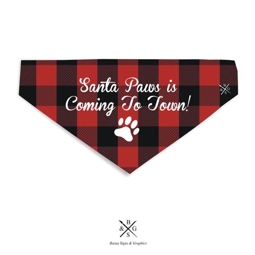 Santa Paws Pet Bandana - Buffalo Plaid