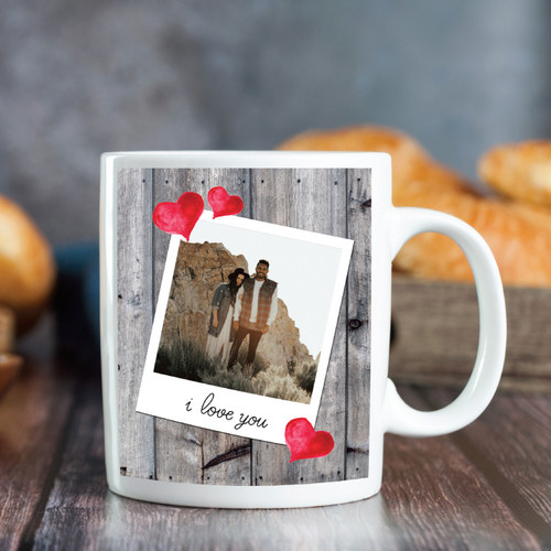 I Love You Polaroid Photo Mug