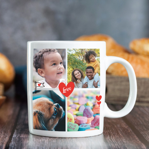Love Collage Photo Mug - 4 Image