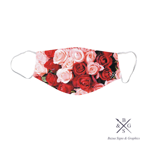 Face Mask - Pink & Red Roses