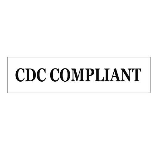 """""""CDC Compliant"""" Sign Rider - Black On White"""