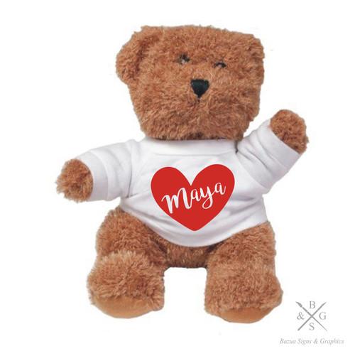 """Plush Bear  """"HEART"""" Personalized"""
