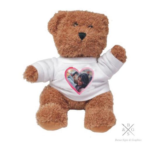 """Plush Bear  """"Photo Heart"""" Personalized"""