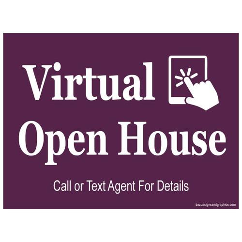 Virtual Open House Sign - Cabernet