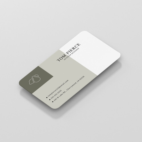 White Plastic Business Cards - 1 Sided