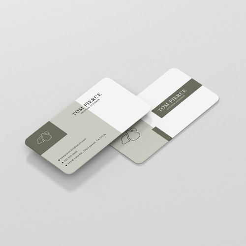 White Plastic Business Cards - 2 Sided
