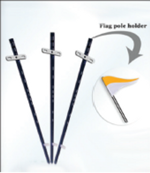 4' Metal Stake w/ Flag Holder - STK-3