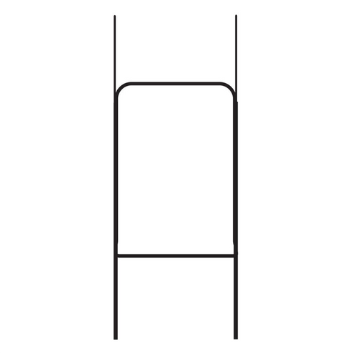 Heavy Duty Step-In Metal Sign Stake (Black) - H30H