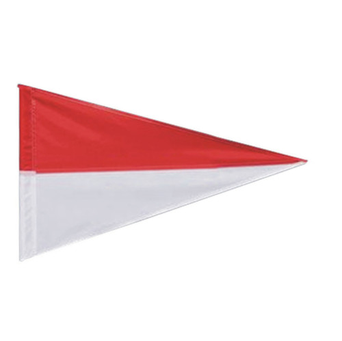 Nylon Pennant Flag - Red/White (Flag Only)