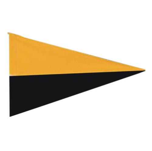 Nylon Pennant Flag - Black/Gold (Flag Only)