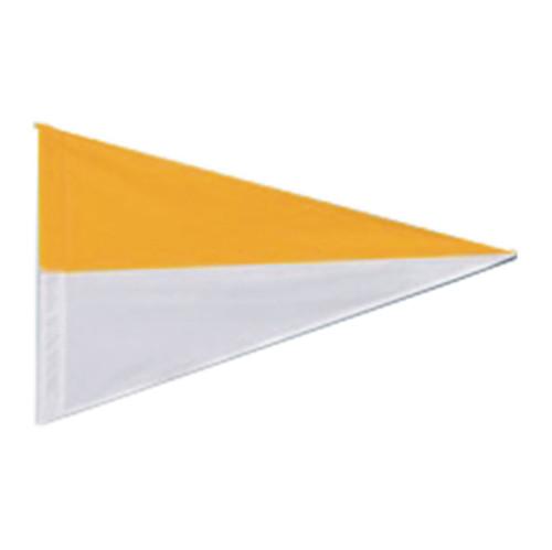 Nylon Pennant Flag - White/Gold (Flag Only)