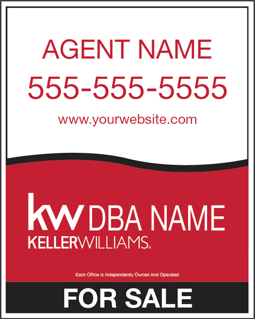 30 x 24 PVC Listing Sign - KWL2