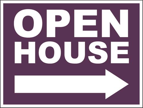 Open House Sign - CABERNET