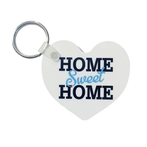 """Home Sweet Home"" White Key Tag"