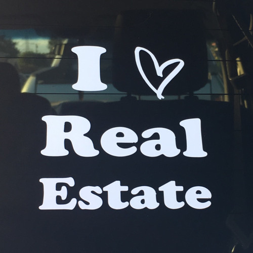 I Love Real Estate Vinyl Decal