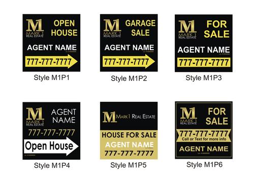 24 x 24 M1 Coroplast Personalized Yard Sign