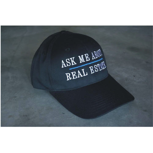 """""""Ask Me About Real Estate"""" Snapback Hat"""