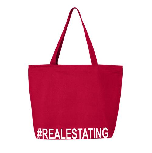 #REALESTATING™ Jumbo Canvas Zip Tote
