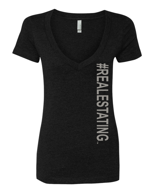 #REALESTATING™ Women's Deep V-Neck T-Shirt