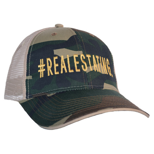 #REALESTATING™ Camo Trucker Hat