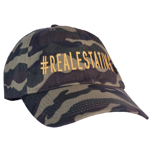#REALESTATING™ Camo Dad Hat