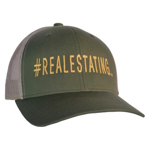 #REALESTATING™ Retro Trucker Snapback Hat