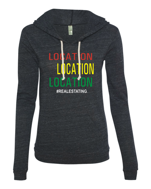 Location Women's Pullover Hoodie