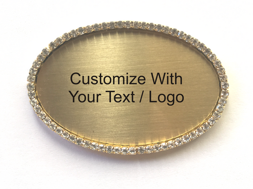 Custom Oval Bling Name Badge