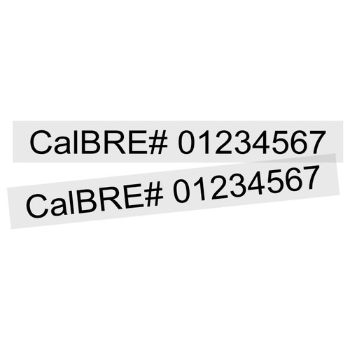 Large License # Vinyl Sign Stickers (16 pack)