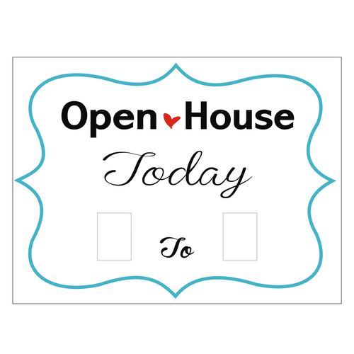 Open House Today From _ to _ Aqua Border